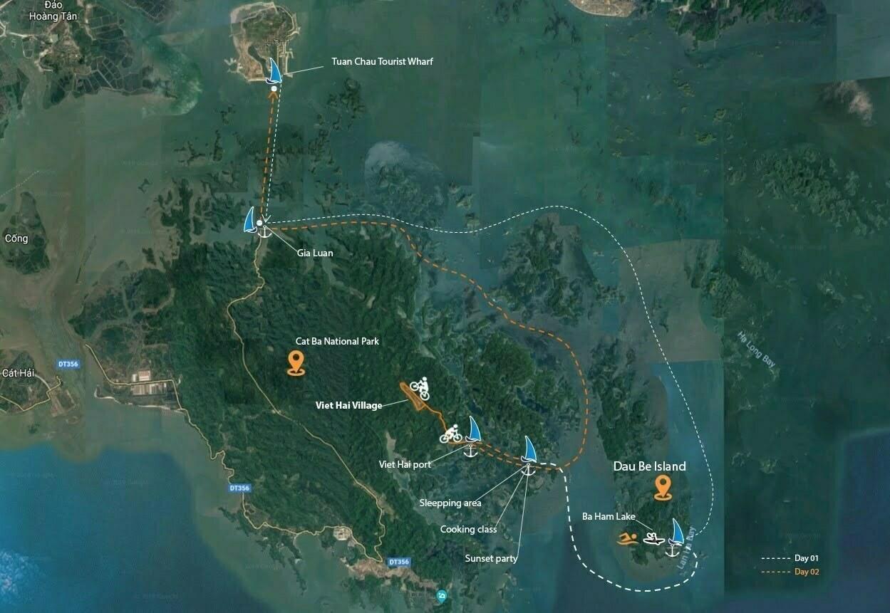 ITINERARY SERENITY CRUISES IN LAN HA - HALONG BAY