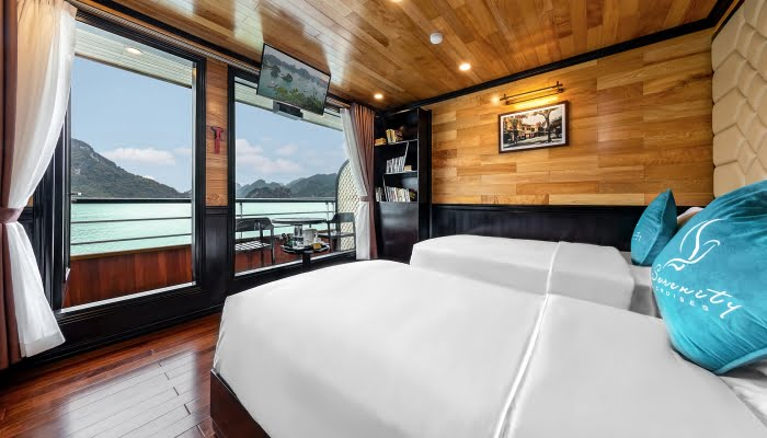 Junior Suite Cabin Halong Serenity Cruises
